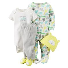 Carter's Baby Boys' or Baby Girls' Giraffe Hat, Bodysuit, Footed Pants & Footed Coverall Set - Yellow 3 months Carters Baby Boys, Baby Kids, Baby Baby, Baby Boy Outfits, Kids Outfits, Unisex Baby, Future Baby, Little Babies, Baby Love