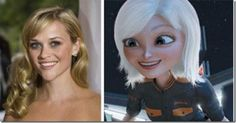 Reese Witherspoon and Ginormica (Susan)- Monsters vs. Monsters Vs Aliens, Girls Rules, Cartoon Movies, Reese Witherspoon, Voice Actor, Cool Cartoons, Character Design Inspiration, Dreamworks, Disney Pixar