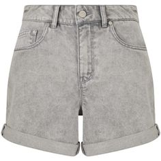 Waven Inga Denim Shorts, Snow Grey ($24) ❤ liked on Polyvore featuring shorts, high rise jean shorts, high-rise shorts, high-waisted shorts, high-waisted denim shorts and grey denim shorts