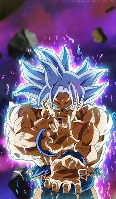 Mastered Ultra Instinct Goku - Ever since Dragon Ball Goku have had tons of different transformation as well as techniques are a few of them. Dragon Ball Gt, Wallpaper Do Goku, Dragonball Wallpaper, Mode Shop, The Beast, Animes Wallpapers, Fan Art, Pokemon, Son Goku