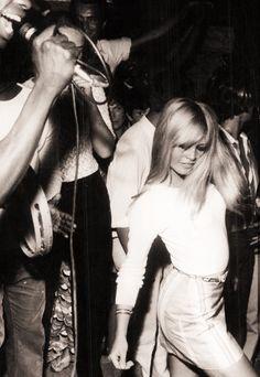 Brigitte Bardot at a party, 1960s