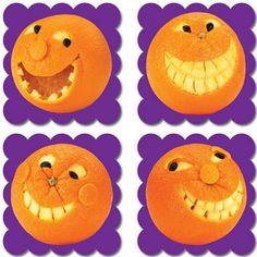 Pegatinas de incentivo con imágenes reales y aroma a naranja.