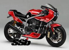 How does a 2018 air/oil-cooled grab you? Tracker Motorcycle, Retro Motorcycle, Suzuki Motorcycle, Motorcycle Types, Cafe Racer Motorcycle, Suzuki Gsx R, Suzuki Motos, Suzuki Bikes, Honda Cb 1100