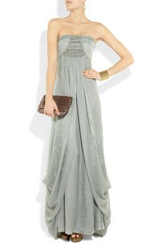 TEMPERLEY LONDON  Long Mirage embellished silk gown