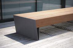 BLOCQ Backless Bench by mmcité 1 design David Karásek, Radek Hegmon Cheap Patio Furniture, Urban Furniture, Street Furniture, Retro Furniture, Furniture Makeover, Cool Furniture, Furniture Design, System Furniture, Furniture Buyers