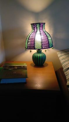 The Mad Hatter is a small upcycled tabletop or bedside lamp which will enlive. Vintage Lamps, Vintage Table, Bohemian Lamp, Crochet Lamp, Quirky Home Decor, Bedside Lamp, Lampshades, Home Decor Inspiration, Tabletop