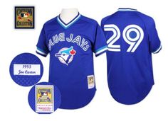 Men s Mitchell and Ness Vintage 1993 Joe Carter Toronto Blue Jays Alternate  Royal Blue Throwback Jersey d47e5780b08