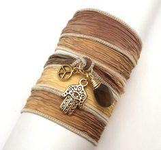 Wrap Bracelet $33.00 @Lori Cohn #jewelry #handmade #bracelet