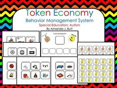 Token Economy Behavior Management System for Special Education, Autism, Preschool thru Eighth Grade Token Economy System is a great tool for usin. Behavior Goals, Behavior Management System, Classroom Management, Token System, Special Education Behavior, Token Economy, Behavior Interventions, Autism Resources, Eighth Grade