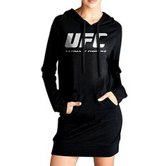 Women UFC Fight Night Logo Long Hoodie Sweatshirt *** Check out the image by visiting the link.(This is an Amazon affiliate link and I receive a commission for the sales)