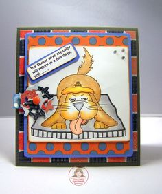 CARD-D-OLOGY: Off Colored Card - Blue, Orange and Gray