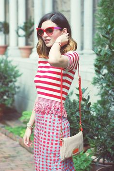 Emilee Anne wearing Topshop Sweater // Marc by Marc Jacobs Skirt // Jeffrey Campbell Sandals // Marc by Marc Jacobs Purse // Dior Sunglasses