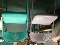 Folding Chairs In Emile Anf Florence Chalk Paint® Decorative Paint By Annie  Sloan At My