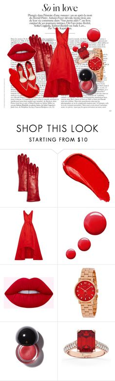 """""""Late Valentine's Day❤️💋"""" by eva-l118 ❤ liked on Polyvore featuring Bloomingdale's, Burberry, Oscar de la Renta, Topshop, Allurez, red, Late, valentinesday and redredred"""