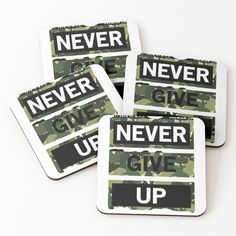 'Never give up goods' Coasters by Giving Up, Never Give Up, Coasters, My Arts, Art Prints, Printed, Awesome, Shop, Products