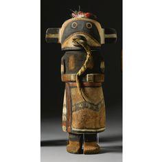 A Hopi Polychrome Wood Kachina Doll, attributed to Wilson Tawaquaptewa, vente Enrico DONATI, sold 31 250 $