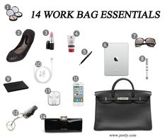 The essentials every woman should carry in her work bag.