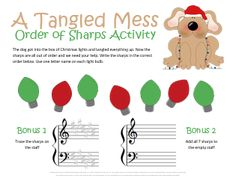 Math Word Problem Worksheet Christmas Music Theory Worksheet For Practicing Key Signatures  Grade 2 Division Worksheets with Ratio Worksheets Pdf Cute Christmas Music Theory Worksheet For Practicing The Order Of Sharps  Kids Can Even Earn Plot Pyramid Worksheet Pdf