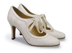1920s or 1930s or 1940s. Diane Hassall Vintage Style Wedding Shoes. vintage wedding ideas