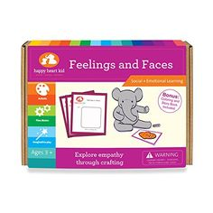 Feelings and Faces  Educational Craft to explore Emotions for Preschoolers Ages 36 years  Creative Feeling Cards to develop kids EQ *** You can find out more details at the link of the image. Note:It is Affiliate Link to Amazon.