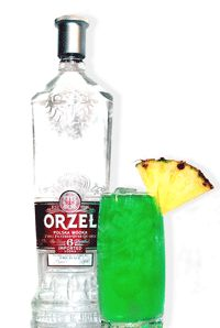Incredible Leprechaun   •1 ounce vodka   •¾ ounce melon liquor   •Pineapple juice   •Lemon-lime soda     Pour vodka and melon liqueur into a tall glass. Fill glass with pineapple juice. Mix, then top off with a splash of soda.