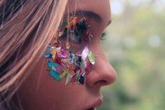 confetti make up, multicolor confetti