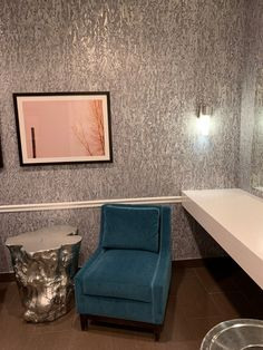 Abalone Thom Filicia, Vinyl, Single Vanity, Vinyl Wall Covering, Color, Sophisticated, Interior, Wall