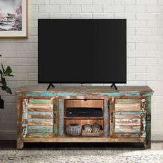 Reclaimed Wood Furniture, Distressed Furniture, Solid Wood Furniture, Tv Table Stand, Diy Tv Stand, Quality Furniture, Online Furniture, Solid Wood Tv Stand, Shutter Doors