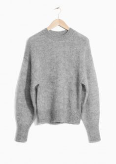 & Other Stories Mohair Wool Blend Sweater in Grey $80