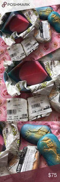 Lush Bundle Baked Alaska large 30$ piece, citrus soaps, Caracas scented Reindeer soaps x2 WonderWoohoo bubble bar Lush Other