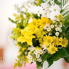 Yellow Ceremony Decor