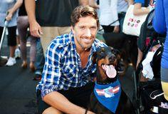 Henrik Lundqvist with his dog, Nova (Source: Best Friends Animal Society)