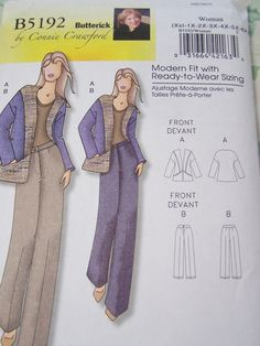 Butterick B5192 Sewing Pattern Women's Jacket and by WitsEndDesign, $8.00