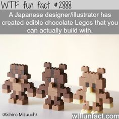 Japanese artists creats edible chocolate legos - WTF fun facts