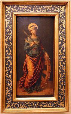 Lo Spagna. Santa Caterina d'Alessandria, 1510-1511 St Catherine Of Alexandria, Esteban Murillo, Byzantine, Saints, Angels, Caterina, Milano, Salvador, Palazzo