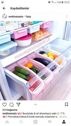 Fridge organizer organization Organization of refrigerator organizersFridge organizer organization Who eats all these clever ways to organize tupperware and food storage containers – convenient and practical kitchen storage design Refrigerator Organization, Kitchen Organization Pantry, Home Organisation, Diy Kitchen Storage, Drawer Storage, Diy Storage, Organized Fridge, Freezer Organization, House Organization Ideas