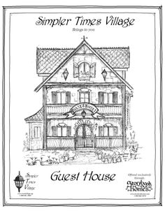 'Guesthouse' houseplan via Storybook Homes