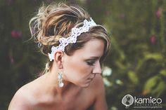 Pretty!//Bridal Headband BLACHE Simply Sweet Romantic Lace Beads WHITE Wedding Bridal Photograph Prop Summer Fall Romance Bridesmaids Reception. $24.99, via Etsy.