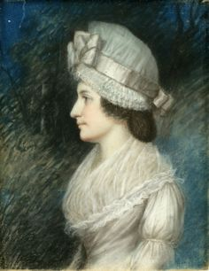 Johanna Abeel Bleecker (1764-1810), c. 1796-1801, by James Sharples. Pastel on grayish brown paper.  Bequest of Mrs. Elizabeth B. Knight, great-granddaughter of the sitter. New-York Historical Society, 1940.351.