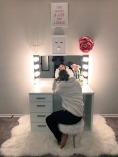 Glamorous LED Lighting Hollywood Glam Mirror (FS) - Storage and Organization Girls Bedroom, Bedroom Decor, Bedroom Ideas, Master Bedrooms, Bedroom Designs, Teen Bedroom Furniture, Light Bedroom, Bedroom Storage, Master Suite