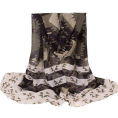 Chic Flower and Stripe Pattern Voile Scarf For Women Scarves | RoseGal.com Mobile