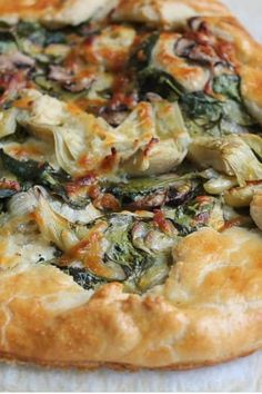 Raise your hand if you love pie. So why shouldn't you eat it for dinner? Here, 11 savory pies, tarts and galettes that come together in under an hour. RELATED: 7 Vegetarian Recipes That Aren't Salad Savory Pastry, Savory Tart, Savoury Baking, Savoury Pies, Savory Cakes, Savory Muffins, Savory Snacks, Tart Recipes, Appetizer Recipes