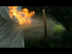 *Fire Tennis, Funny Slow Motion Video of a Flaming Tennis Ball Being Hit - http://www.youtube.com/watch?v=2NS1umhAAeg=player_embedded#!