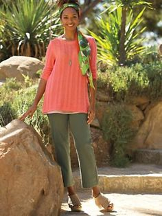 With Knit-tastic(tm) Pull-On Jean Crops you get knit comfort that's just your little secret, a smooth, bump-free look under tops, and a waistband that stays put---won't slide down when you sit down. Really flattens your tummy, too.