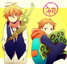 Meliodas and King Elsword, Seven Deadly Sins, Manga, My King, Nerd, Cartoon, Fictional Characters, Initials, Manga Anime