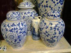 BLUE AND WHITE GINGER JARS and DELFT @ www.heyjudesbarn.co.za