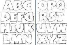 Moldes de letras para mural Baixar moldes de letras do alfabeto para imprimir. Stencil Lettering, Hand Lettering Alphabet, Doodle Lettering, Lettering Design, Alphabet Letter Templates, Alphabet Stencils, Printable Letters, Coloring Letters, Coloring Pages