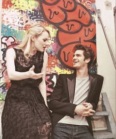 """""""She's the sun, and she's got such depth. She can do anything. She's magic.""""   - Andrew Garfield on Emma Stone  -Cutest couple ever."""