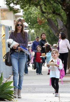 Las celebridades que llevan a sus hijos a la escuela.