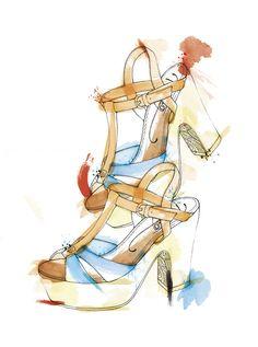 Ilustración para la revista Mustang       Ilustración de zapatos que podéis encontrar en la nueva revista de Mustang.  http://www.mustang.es/  Realizado como parte del equipo gráfico de la marca, Departamento de Comunicación.
